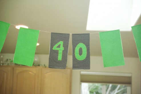 Embroidered Birthday Banner