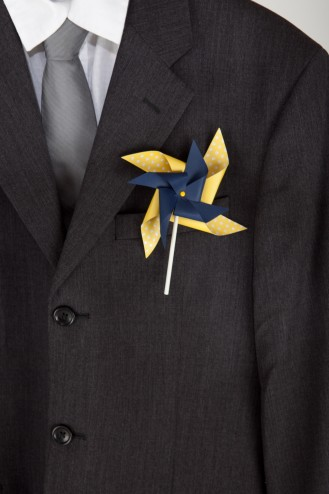 Adult Double Pinwheel Boutonniere