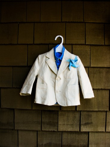child-size pinwheel boutonniere